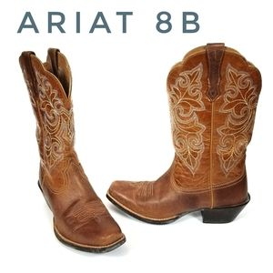 ARIAT Western Cowgirl Round up Square Toe EUC #8
